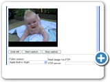 Put VideoCapX object on your web pages to allow visitors to take pictures or videos and upload to your web server.